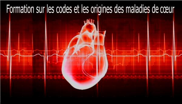 coeur en filigrane avec texte : formation sur les maladies de cœur